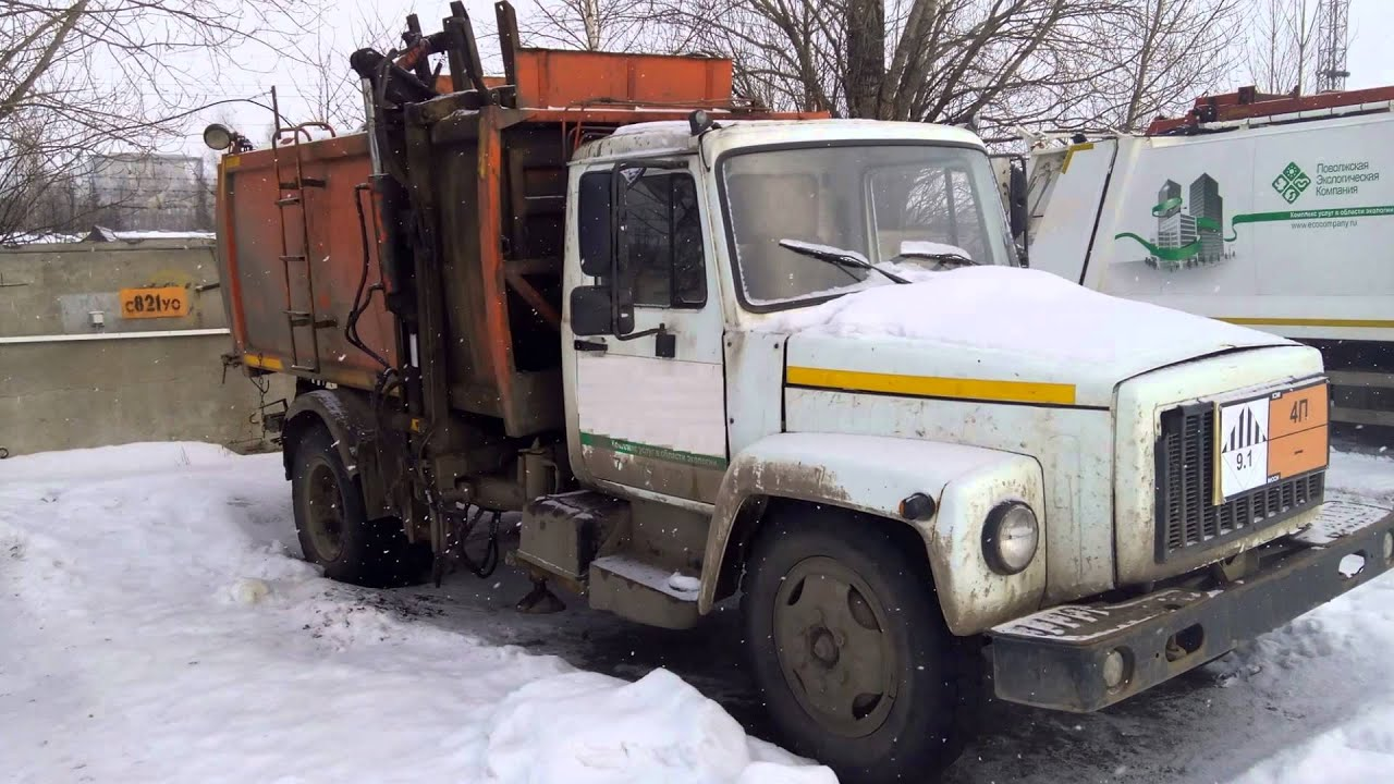 Мусоровоз КО-440-4Д (2013 г.) шасси ЗИЛ-432932 дизель - YouTube