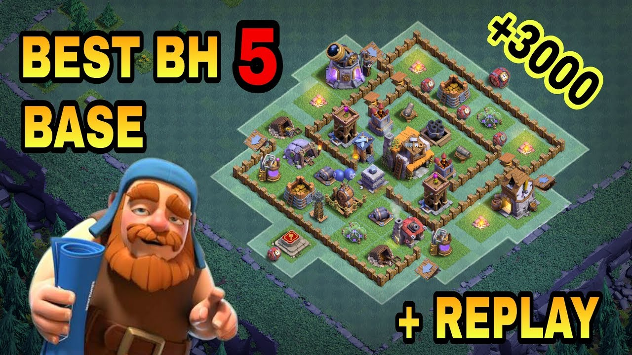 Builder Hall 5 Bh5 Best Base With Replay Proof Bh5 Top