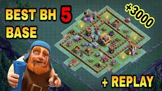 BUILDER HALL 5 (BH5) BEST BASE WITH REPLAY PROOF | BH5 TOP DEFENSIVE TROLL BASE | CLASH OF CLANS |
