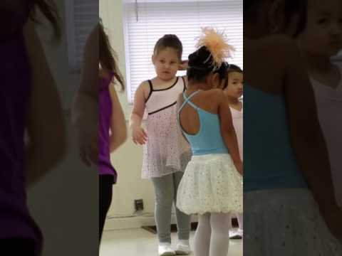 Nicole's first day of ballet