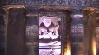 Ajanta Cave Rock pillars produce  Musical Sound by woman hand stroke by Shirishkumar Patil.mpg