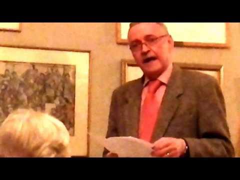 Frank McDonald after dinner speech @ United Arts Club, Dublin, 3rd Feb. '17