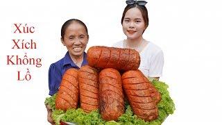 Bà Tân Vlog - Xúc Xích Siêu To Khổng Lồ Nướng Siêu Cay | Giant Sausage