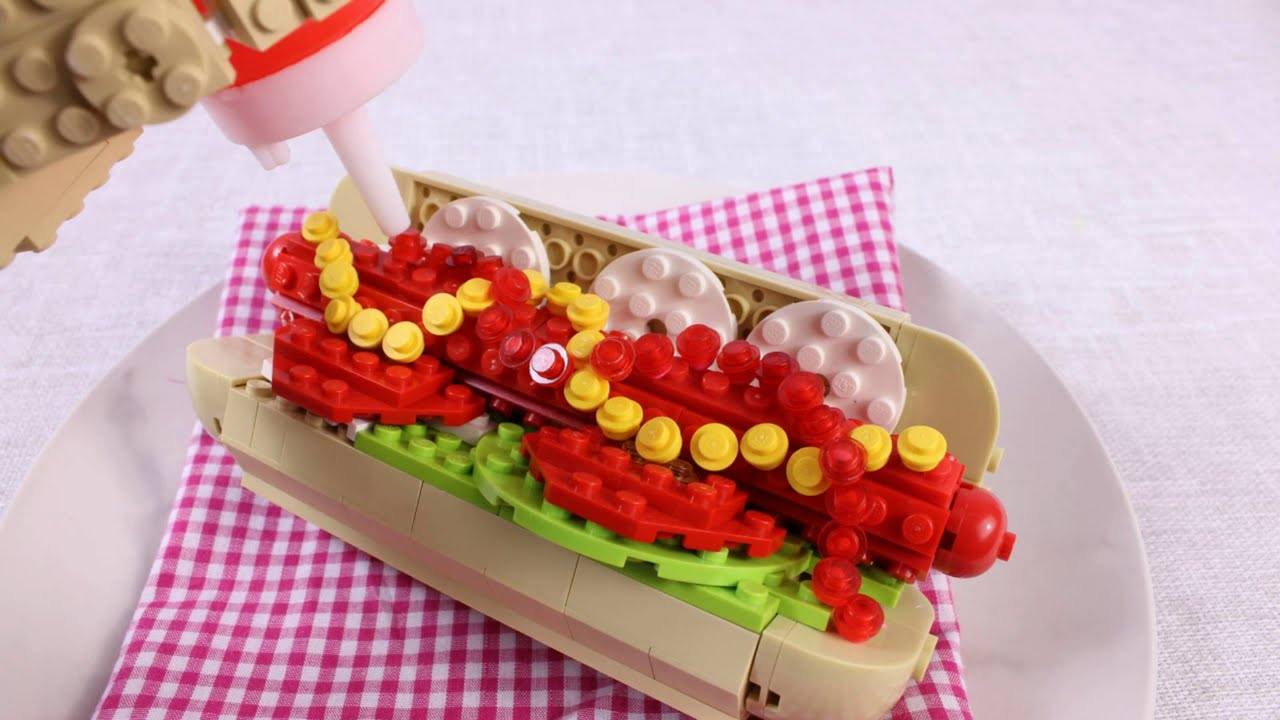 Hot Dog Lego/ STOP MOTION COOKING / ASMR / Lego in Real Life.