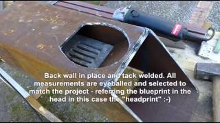 """Massive rocket stove heater """"Tamed Dragon"""" - first stage in construction"""