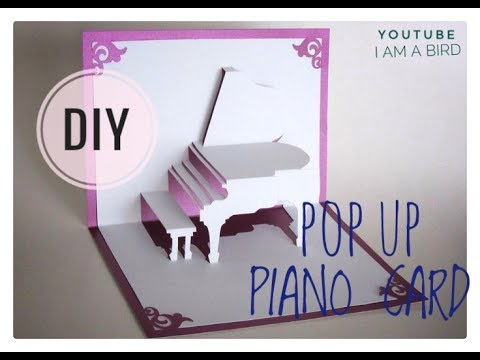DIY 3D Pop Up Piano Card Tutorial With Layout