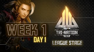 Free Fire Tri-Nation Cup League Stage | Week 1 Day 1