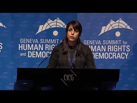 Maryam Malekpour at Geneva Summit 2018