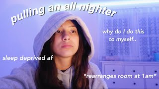 pulling an all nighter during quarantine