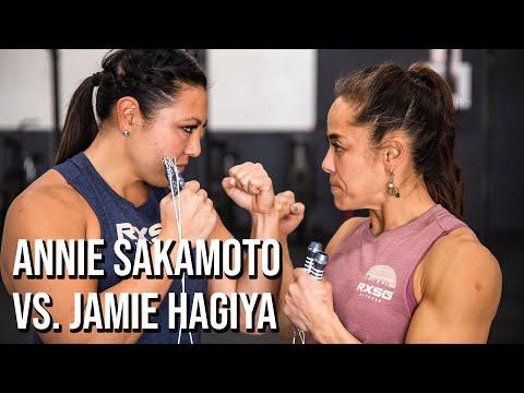 Annie Sakamoto vs. Jamie Hagiya ('Annie' CrossFit WOD) | Rx Smart Gear