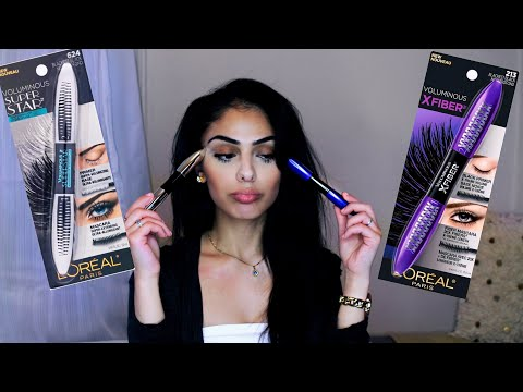 Loreal Voluminous X Fiber Mascara VS Loreal Voluminous Superstar Mascara - Review | Dana Dey
