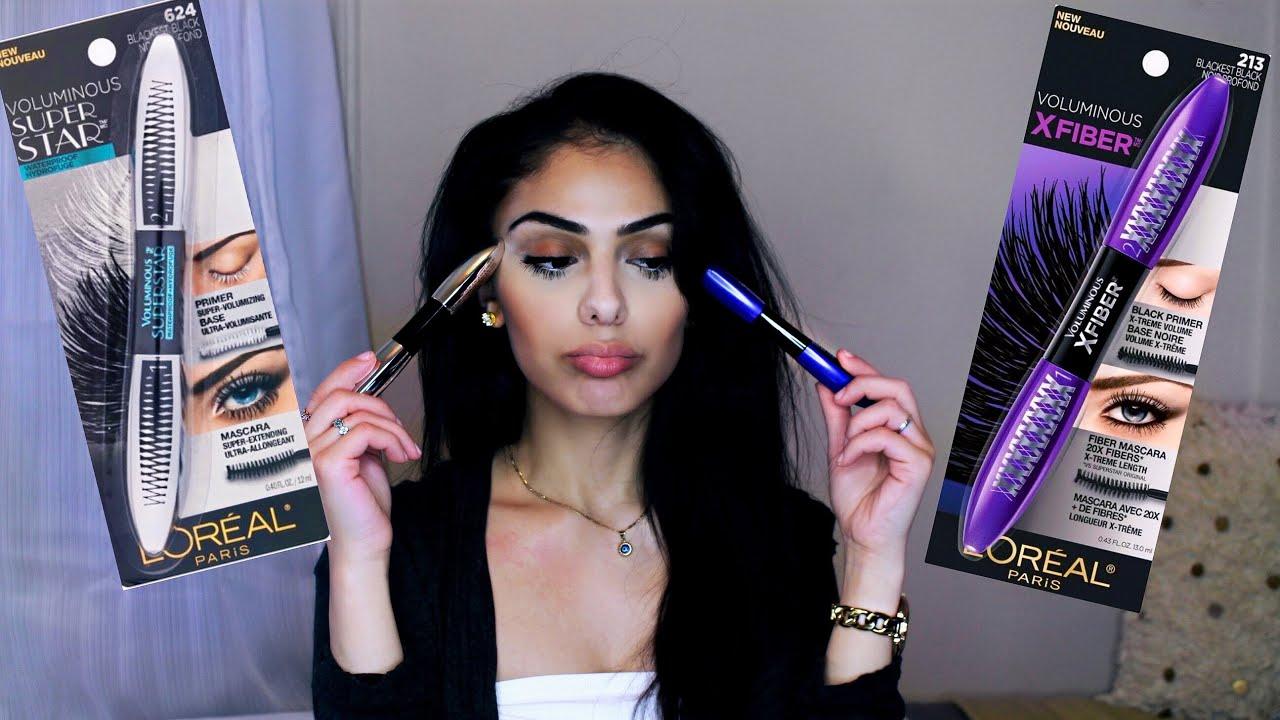 e6cea096858 Loreal Voluminous X Fiber Mascara VS Loreal Voluminous Superstar Mascara -  Review | Dana Dey