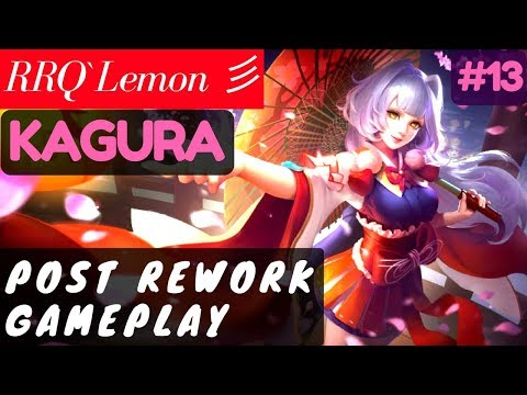 Post Rework Gameplay [Rank 1 Kagura] | RRQ`Lemon 彡 Kagura Gameplay and Build #13 Mobile Legends