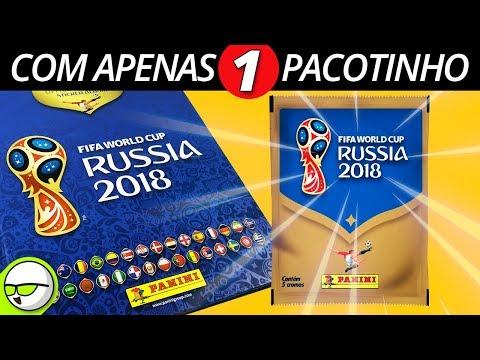 ÁLBUM DA COPA COMPLETO com apenas 1 PACOTINHO de FIGURINHA (INCRÍVEL) Rússia 2018 [PalitoMania]