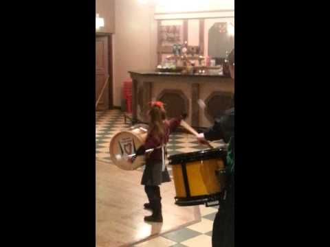 Aoife at band practice
