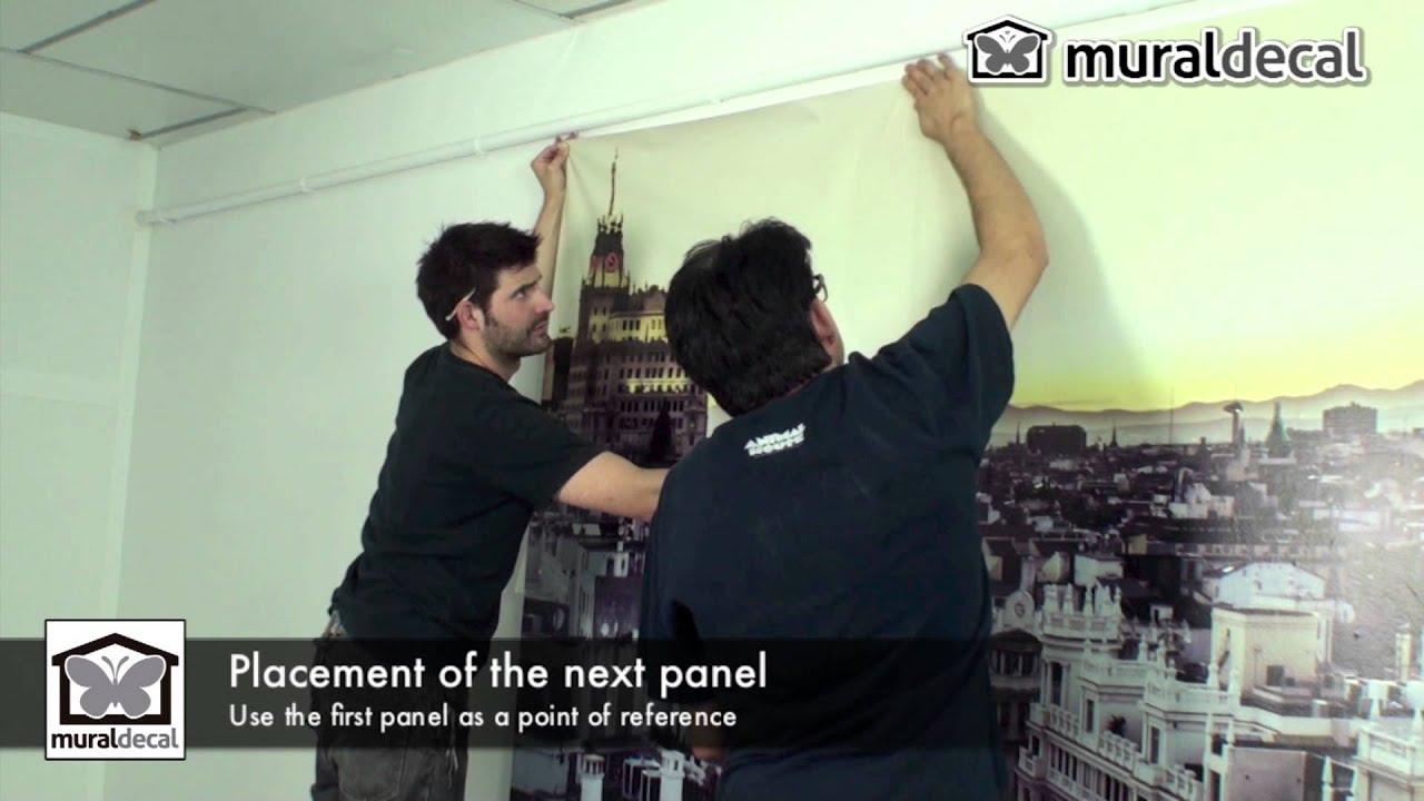 Wall Mural Installation   Self Adhesive Vinyl   MuralDecal   HD   YouTube