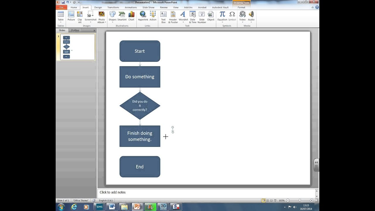 How to create a flow chart using powerpoint youtube how to create a flow chart using powerpoint geenschuldenfo Images