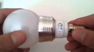unboxing e14 led rgb 3w 16 colors change lamp light bulb 24 key ir remote controller