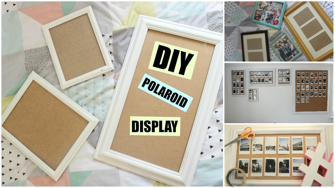 Diy polaroid displayframe wall katchats youtube jeuxipadfo Gallery