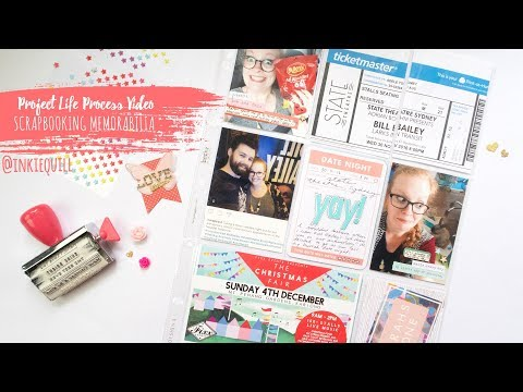 Project Life Process Video ~ Scrapbooking Memorabilia + + + INKIE QUILL