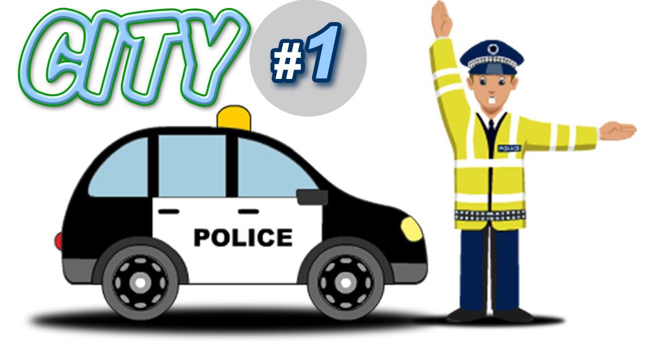 City coloriamo macchine polizia camion da corsa