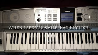 When I see you smile Bad English cover Audacity