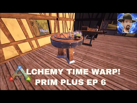 ALCHEMY TABLE- FINDING CARBON/LIMESTONE/CLAY/BEESWAX-NEW PRIMITIVE PLUS UPDATE 258- S2E6- ARK
