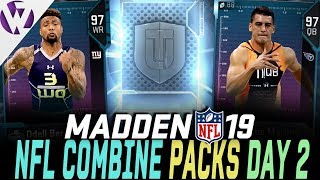 PULLED NEW COMBINE STAR!! QB, WR, TE COMBINE PLAYERS! - Madden 19 Pack Opening
