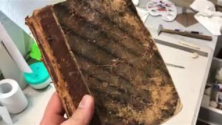 Реставрация старой книги и новый-старый переплёт!