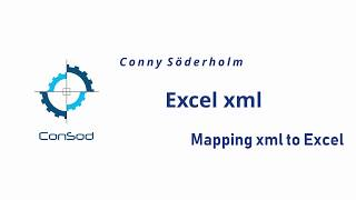 Mapping and importing/exporting an XML schema with Excel.