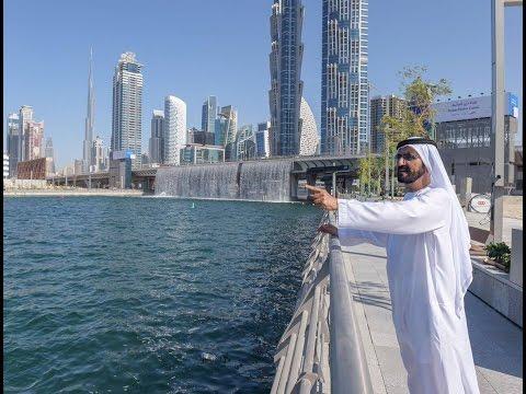 A Famous Song in Dubai for Mehad Hamad  افتتاح قناة دبي المائية مع شيلة الله على دبي