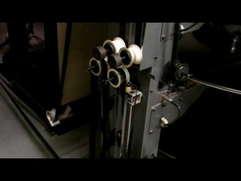 how a film projector works in a cinema youtube. Black Bedroom Furniture Sets. Home Design Ideas