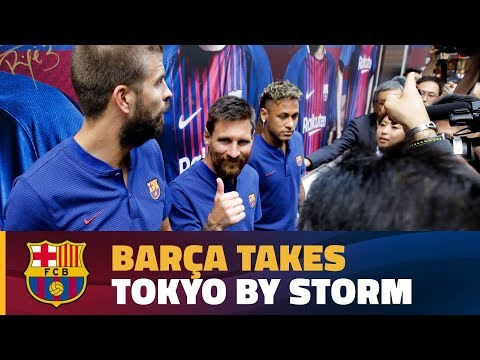 FC Barcelona presents Rakuten in Japan