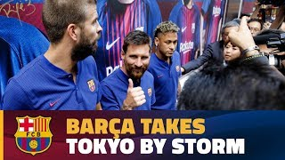 Fc Barcelona Presents Rakuten In Japan