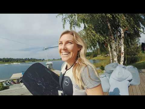 Ange & Carro Wakeboarding in Lithuania at  WAKEWAY