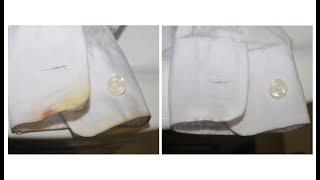 Как отстирать пятно от краски гуашь на белой рубашке?