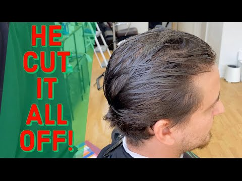 He's Tired Of His Long Hair! Transformation Haircut!