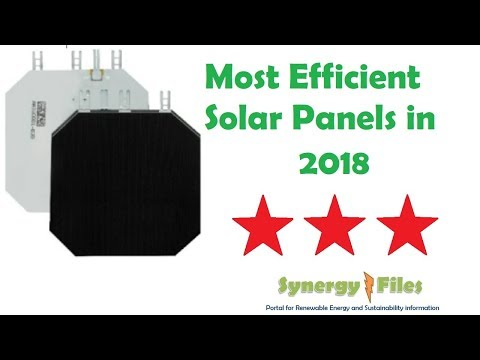 Most efficient Solar Cells and Panels in 2018