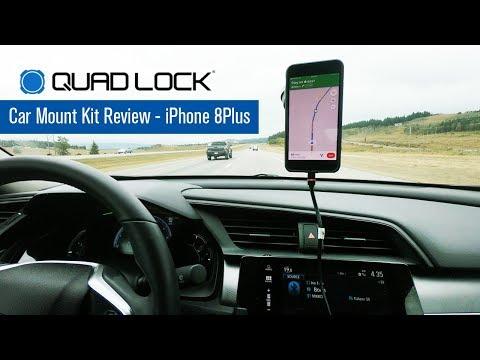 Quad Lock Car Mount Review - IPhone 8 Plus