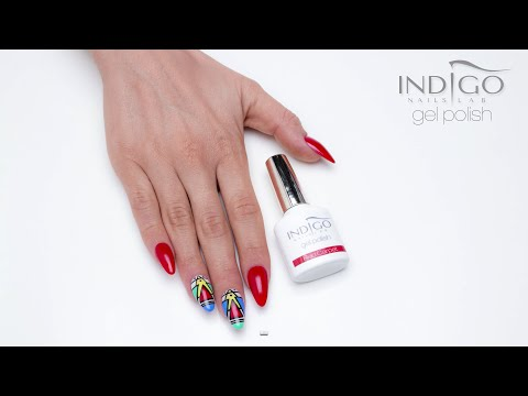 Indigo Gel Polish Aztec Design - Red Carpet