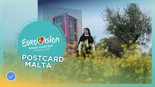 Postcard of Christabelle from Malta - Eurovision 2018