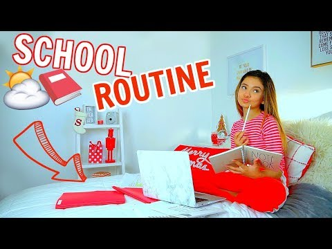 School Morning Routine 2018 Updated 📕⛅ Vlogmas 12