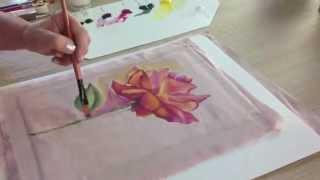 Como pintar sobre tela - Flores - Ana Maria Paravic