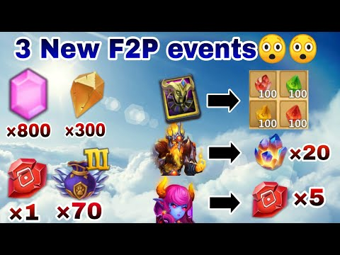 Greenspring Event Code | All F2p Event  | 3 Event Including Exchange Hero Event | Castle Clash