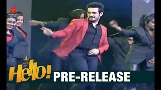 Akhil Akkineni Dance Performance For HELLO Title Song At Pre Release Event