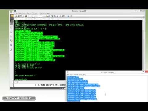 LabMinutes# RS0061 - Cisco BGP Peer Group Peer Template and VRF