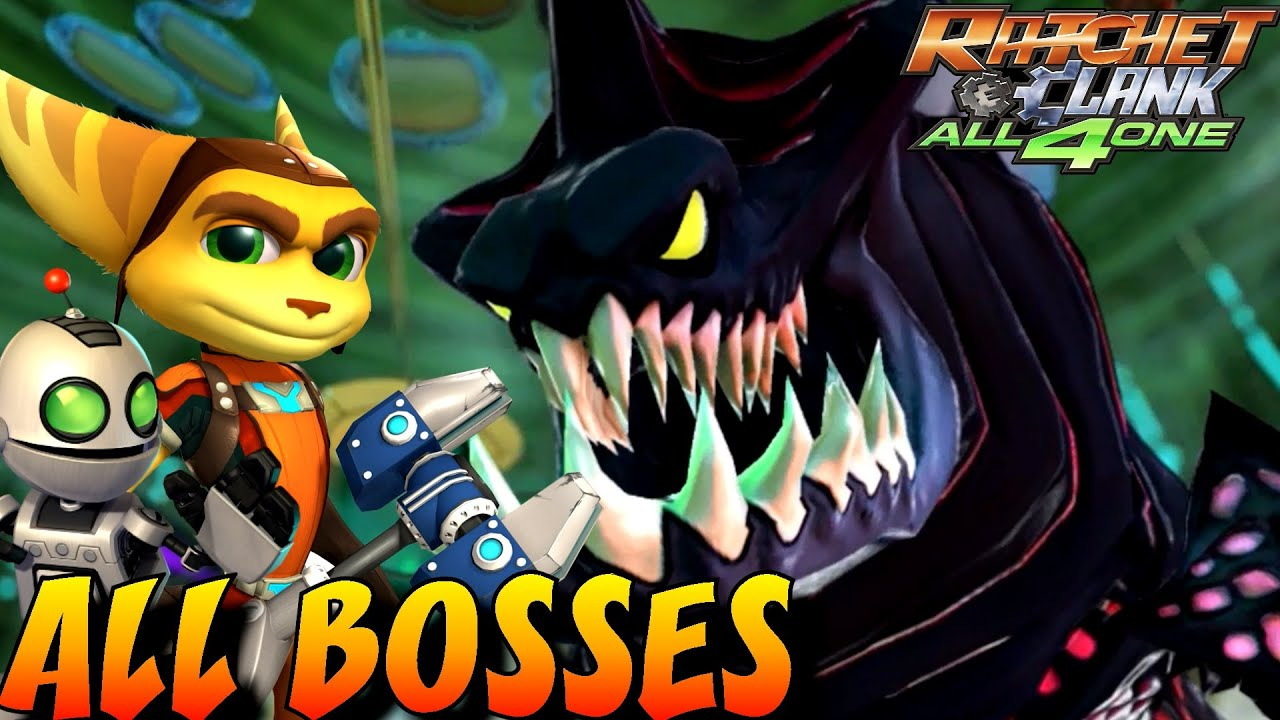 Ratchet And Clank All 4 One All Bosses No Damage Youtube