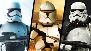 First Order Stormtroopers VS Original Trilogy Stormtroopers VS The Clone Troopers (Star Wars Canon)
