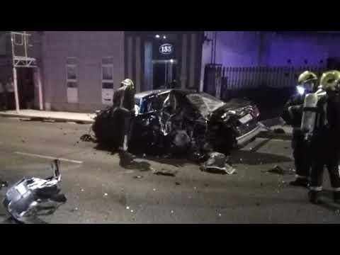 Accidente en la Ronda da Muralla, en Lugo