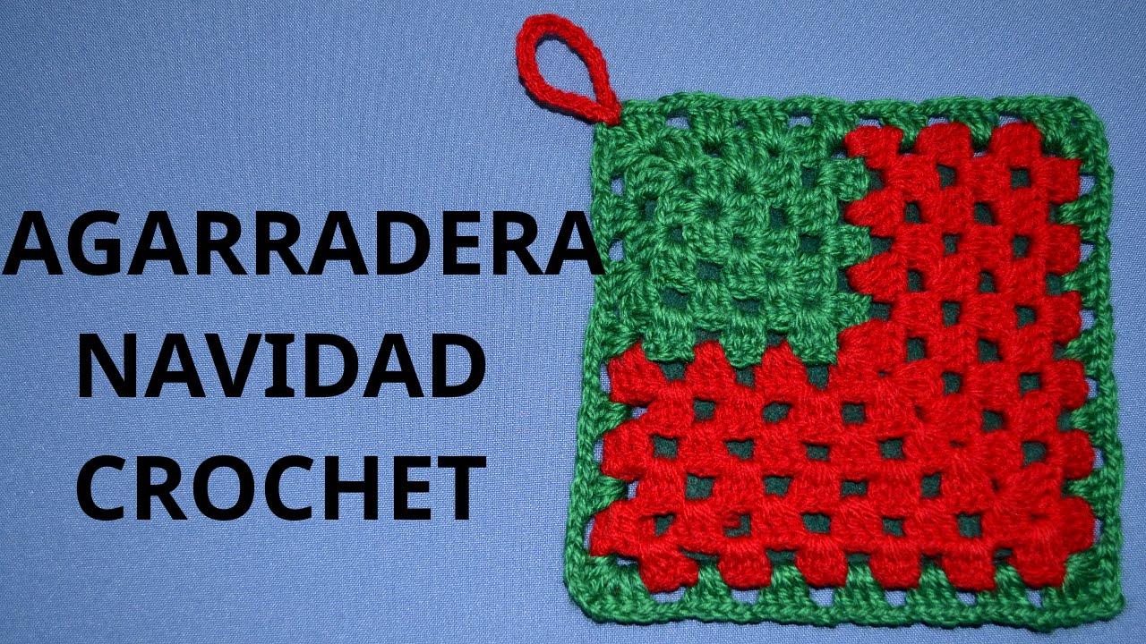 Agarradera Navidad en tejido crochet tutorial paso a paso. - YouTube